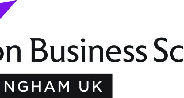 Aston Business School Birmingham Logo Purple CMYK