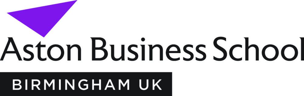Aston Business School Birmingham Logo Purple CMYK
